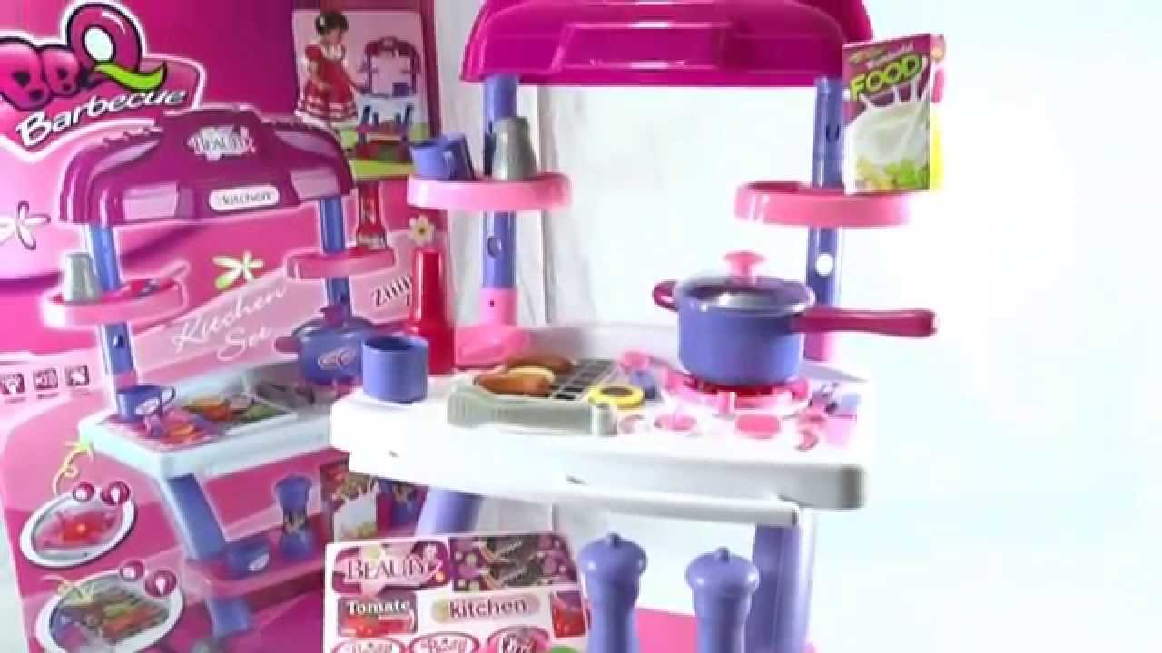 KITCHEN TOYS FOR GIRLS WITH BBQ GRILL LIGHTS AND SOUNDS