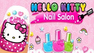 Baby Learn Colors With Hello Kitty Nail Salon - Fun Colors Cartoon Games For Girls