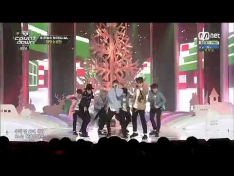 141225 BTS  Just One Day  & War Of Hormone - MCountdown Christmas Special