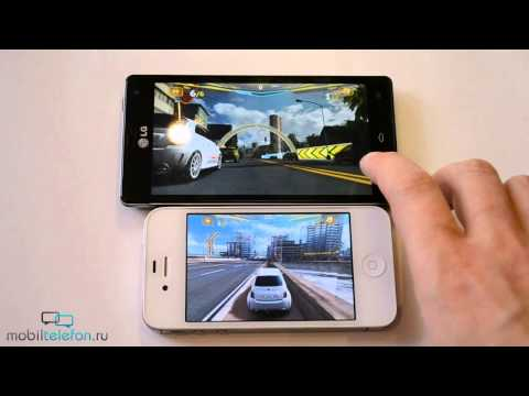 LG Optimus 4X HD vs iPhone 4S: скорость (speed compar