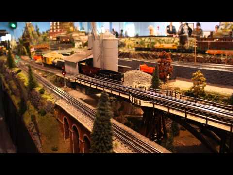 NJ Hirailers Trainstock 3 - Tour of the largest O Gauge Layout in the USA-Part 1
