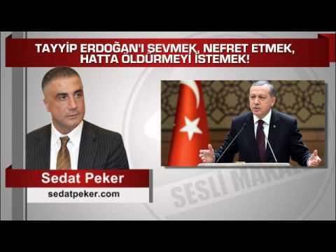 Sedat Peker  TAYYİP ERDOĞAN'I SEVMEK, NEFRET ETMEK, HATTA ÖLDÜRMEYİ İSTEMEK!