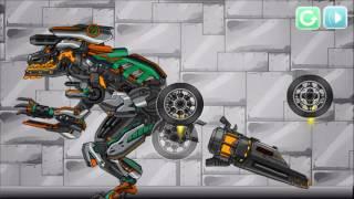 Мультфильм игры для детей Сборка скелет динозавра #12.