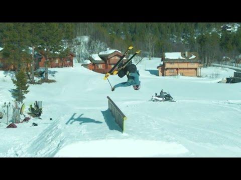 skuff tv snow world first flip on to flip off rail