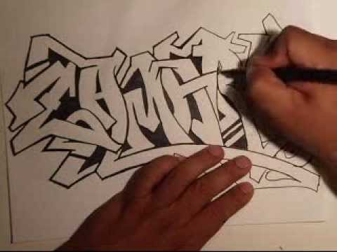 Drawing Graffiti- (Requested)  -(ZAMARY)   by WIZARD