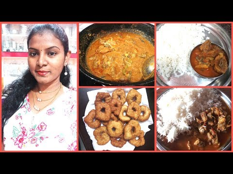 #DIML July 15th Sunday Special Vlog/Mutton Curry/Simple Minapa Garelu/Vada Making /Amulyas kitchen
