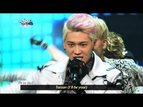 Wonder Boyz - Tarzan (2013.06.15) [music Bank W  Eng Lyrics] video