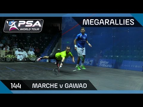 Squash: MegaRallies Ep. 144 - Marche v Gawad - Qatar Classic 2015