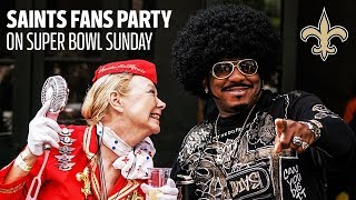 New Orleans Saints Fans Party in the Streets Instead of Watching the Super Bowl