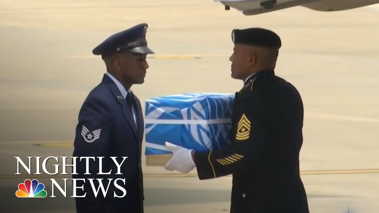 North Korea Returns Remains Of U.S. Troops Killed In Korean War | NBC Nightly News