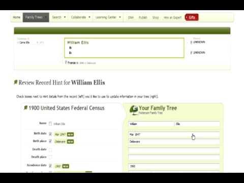 Using Hints on Ancestry.com