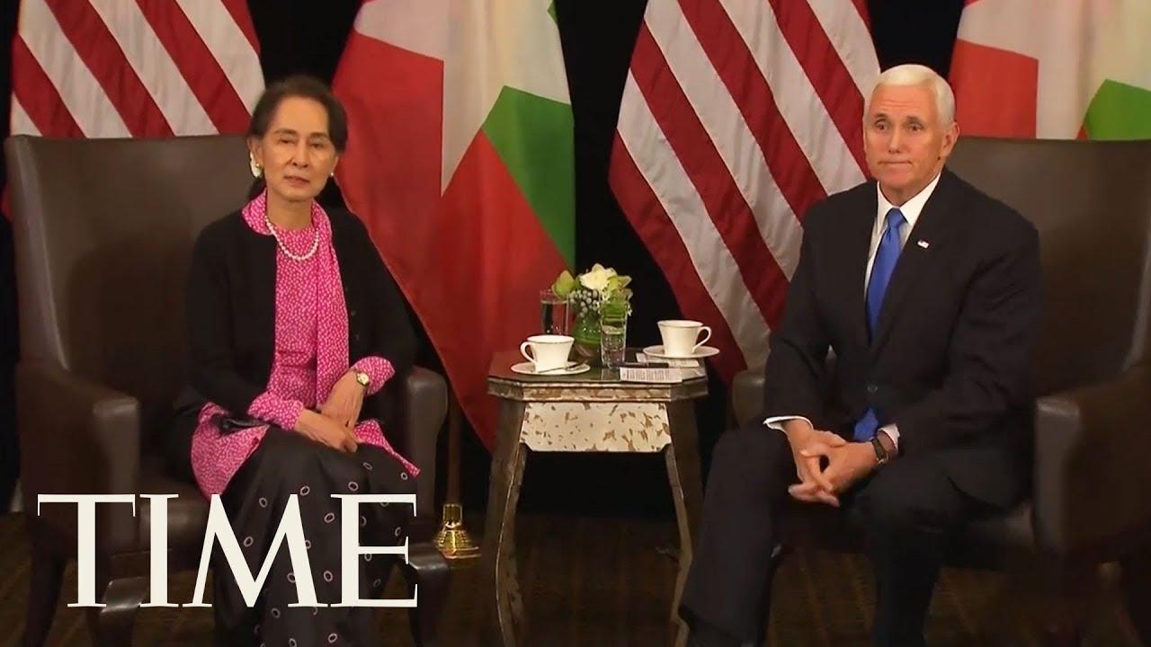 Vice President Mike Pence Meets Myanmar Leader Aung San Suu Kyi, Talks About Rohingya   TIME