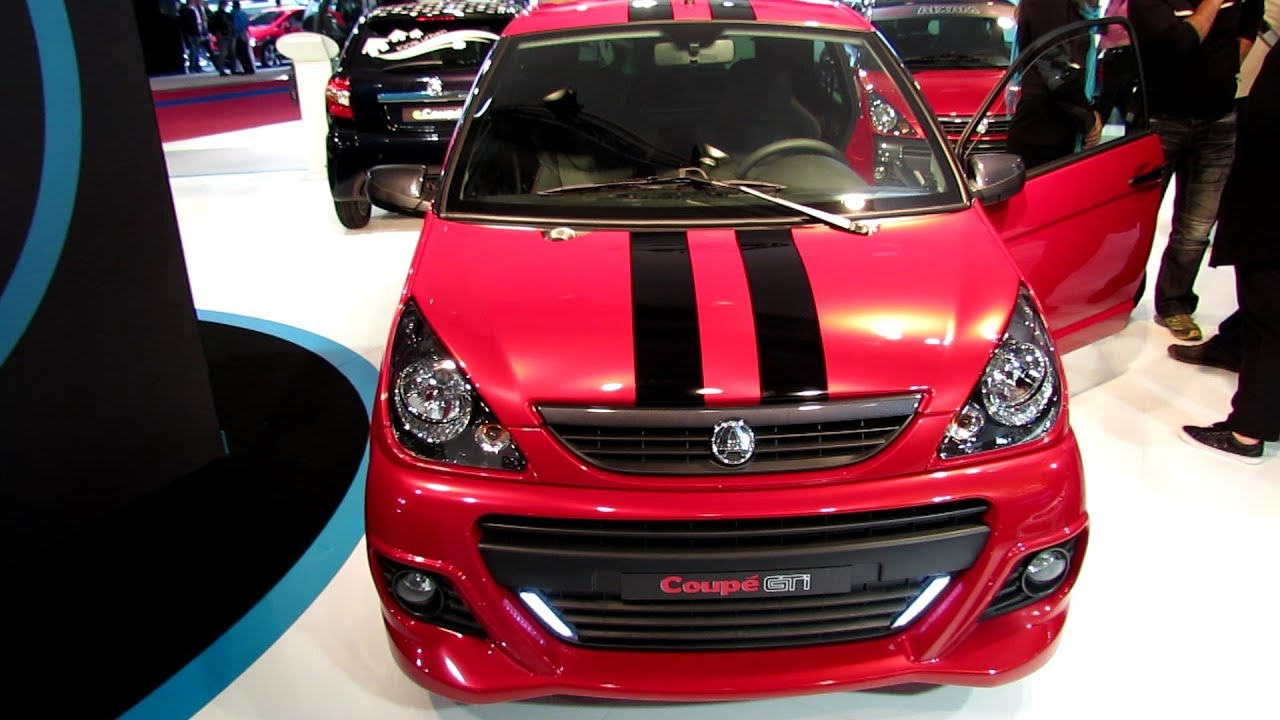 2013 aixam coupe gti diesel exterior and interior walkaround 2012 paris auto show youtube. Black Bedroom Furniture Sets. Home Design Ideas