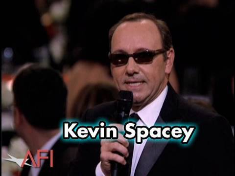 Kevin Spacey does an impression of both Christopher Walken and Jack Nicholson at the 38th AFI Life Achievement Award: A Tribute To Mike Nichols. AFI FACEBOOK...