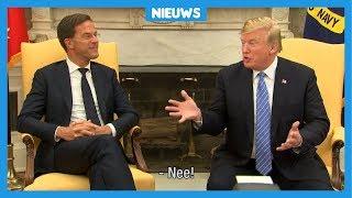 Mark Rutte zegt 'Nee' tegen Donald Trump