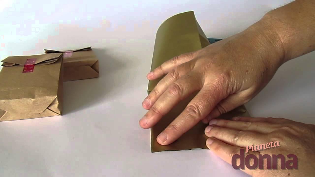 Sacchetti di carta ecco come realizzarli in casa youtube for Sacchetti di carta fai da te
