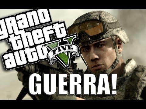 GTA V - Como fazer uma VERDADEIRA GUERRA!