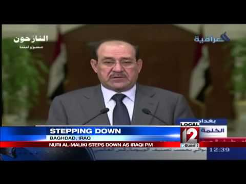 Iraqi prime minister steps down, gives way t