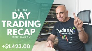 Day Trading Recap, Oct 04: Understanding The Personality Of A Stock