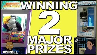 Winning Major Prizes On Stacker & Monkey Bizzness Arcade Games at Playtime Cafe