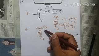 how to calculate tension and acceleration in hindi