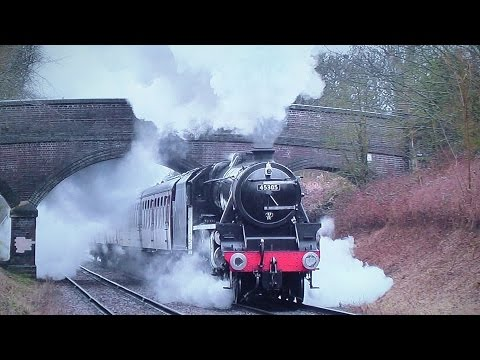 LMS 45305 Returns To The Great Central Railway - 2015