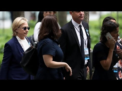 Clinton Not Feeling Well Leaves 9 11 Event Early