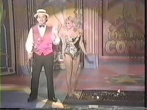 Nina Blackwood walking bare feet on hot coals on Circus of the Stars