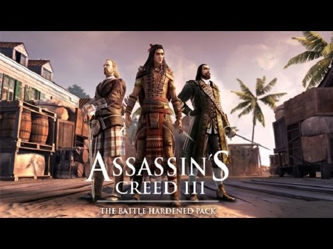 AC3 - The Battle Hardened Pack DLC characters & maps [HD]