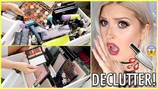 Eyeshadow Palettes & Primers (etc) 🔪 ORGANIZE AND DECLUTTER MY MAKEUP COLLECTION! 😏