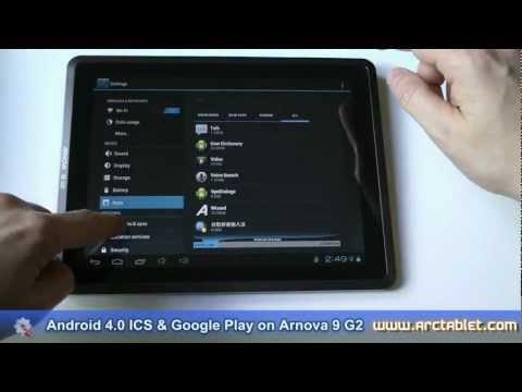 Arnova 9 G2 Android 4.0 ICS and Google Play with a custom firmware