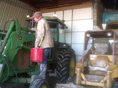 cold start 4230 john deere diesel tractor