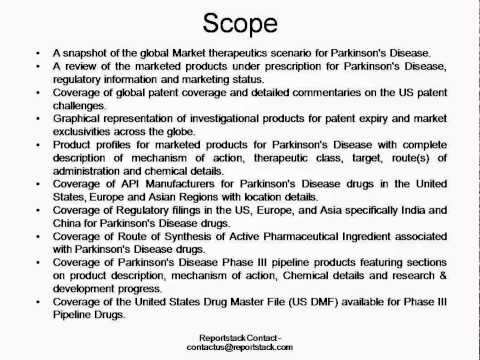 Parkinson's Disease- Market Analysis, Global API Manufacturers and Phase III Pipeline Assessment