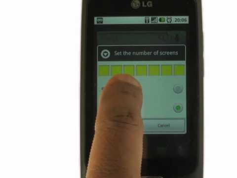 Home screens   LG Optimus One   The Human Manual