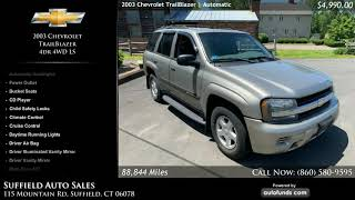 Used 2003 Chevrolet TrailBlazer | Suffield Auto Sales, Suffield, CT