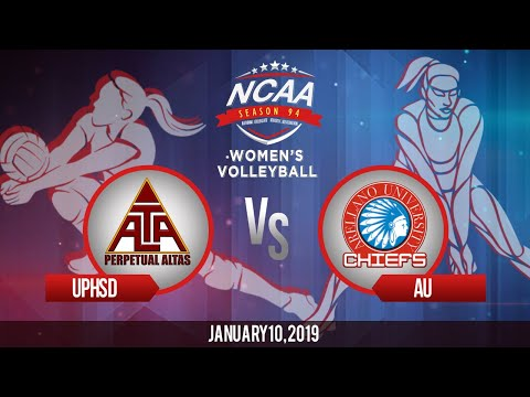 NCAA 94 Womens Volleyball: UPHSD vs AU  January 10 2019