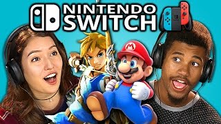 TEENS REACT TO NINTENDO SWITCH (TRAILERS)