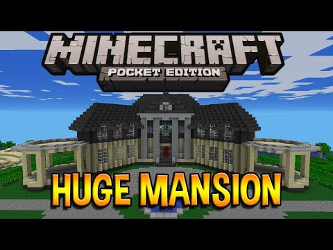 AMAZING HUGE MANSION! - Minecraft Pocket Edition (HD)