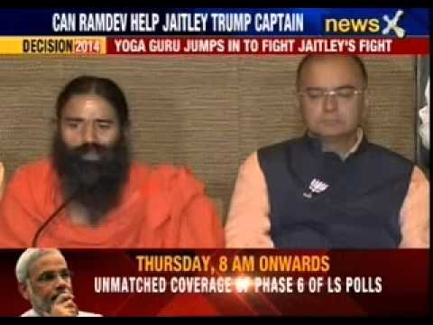 Censored by EC, Baba Ramdev campaigns for BJP