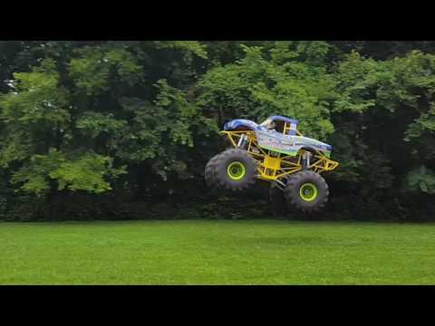 A Mini Monster Truck Catching Nice Air