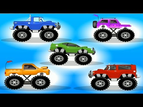 Monster Trucks for Kids | Monster Truck for Kids - Colors Learning Educational Video Car