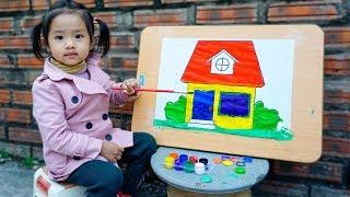 Trò Chơi Lớp Học Vui Nhộn - Tiết Học Mỹ Thuật - Bé Nhím TV - Đồ Chơi Trẻ Em Thiếu Nhi