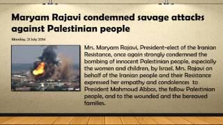 Maryam Rajavi condemned savage attacks against Palestinian p... view on break.com tube online.