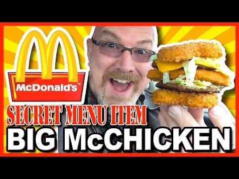 McDonald's ★ Secret Menu Item ★  Big McChicken, Build & Review