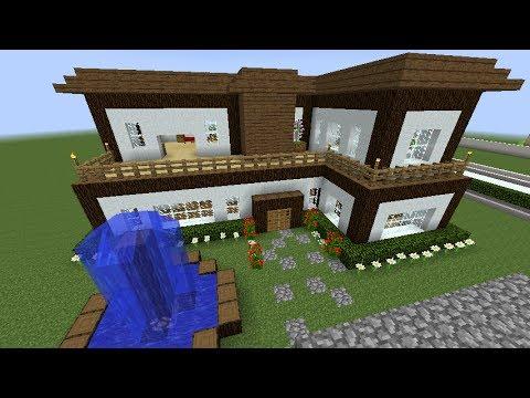 Tutorial de como hacer una casa bonita y moderna en for Como aser una casa moderna y grande en minecraft
