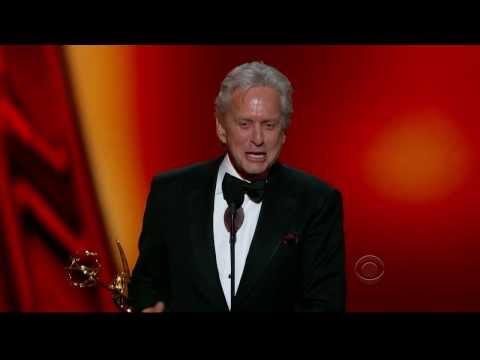 Hysterical 2013 Emmys Michael Douglas Acceptance Speech