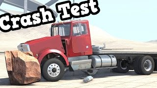 BeamNG Drive Update 0.4.2.1 -  Crashing Into a 6-Ton Rock