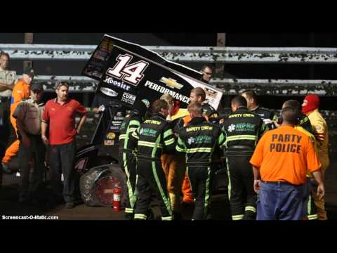 Wow!!! Tony Stewart Runs Over Sprint Car Driver Kevin Ward