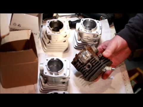 Husqvarna 350 346xp comparison of cylinders and pistons