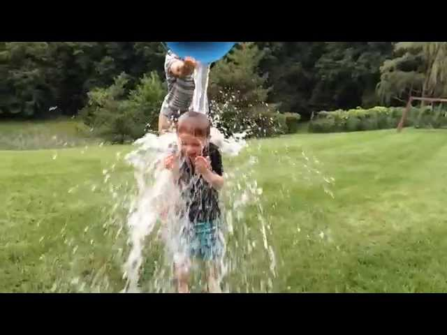 Slow motion Ice Bucket Challenge for ALS with Kyle Padilla